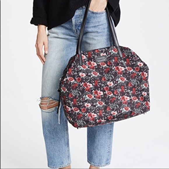 8dd719194 Rebecca Minkoff Bags | Nwt Washed Nylon Rose Floral Tote | Poshmark